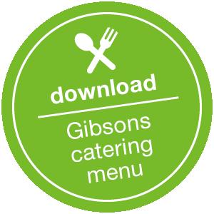 gibsons catering menu